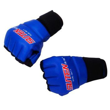 LMFLD1 New MMA Muay Thai Training Punching Bag Mitts Sparring Boxing Gloves Gym Men Fitness Fight half finger PU Boxing Gloves