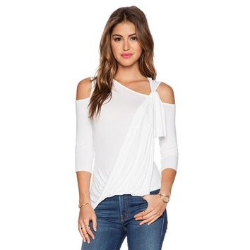 Pleated One Shoulder Shirt
