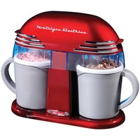 Retro Double Homemade Ice Cream Maker Kitchen Gadget With 2 Freezable Mugs
