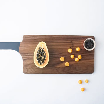 Color Dipped Walnut Serving Board