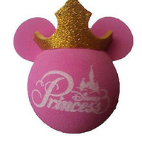 disney parks princess pink with gold crown antenna pencil pen topper new