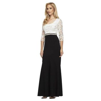 ONETOW Alex Evenings 1121571 Lace Two Tone Dress