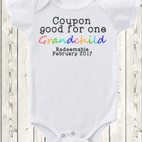 Pregnancy Announcement Idea Grandparents Pregnancy Reveal Grandma Grandpa New Baby Onesuit ® Brand Bodysuit Or Shirt Mimi Grammy Papa Gramps