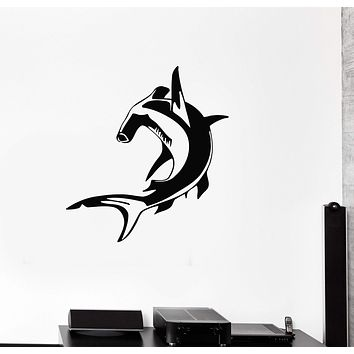 Vinyl Decal Hammerhead Nautical Marine Ocean Bathroom Decor Wall Stickers Unique Gift (ig131)