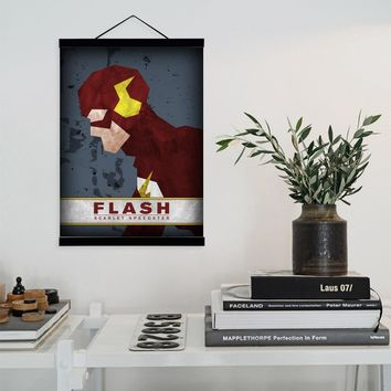Flash Hero Super Hero Superheros Movie Wooden Framed Canvas Painting Home Decor Wall Art Print Pictures Poster Hanger