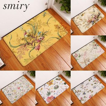 Autumn Fall welcome door mat doormat Smiry commercial s for entrance door broomy beautiful flower garden pattern carpets decoration stair bedroom foot pads AT_76_7