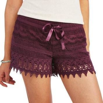 No Boundaries Juniors Crochet Shorts - Walmart.com