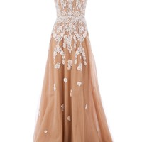 Zuhair Murad Embellished Sheer Gown