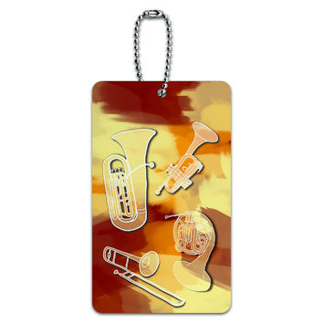 Brass - Music Musical Instruments Band Orchestra ID Card Luggage Tag