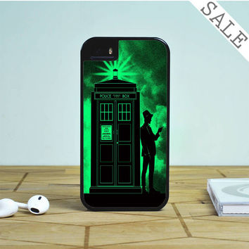 Light Green Clouds Dr Who Tardis For iPhone | Samsung Galaxy | HTC Case