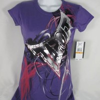 Tapout Shirt Swirl Tee Girls Juniors Purple T-shirt