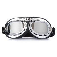 Universal Chrome Lenses UV Motorcycle ATV Helmet Goggles
