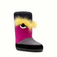 FENDI | SNOW BOOT in technical fabric and fur
