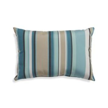 "Sunbrella ® Seaglass Multi Striped 20""x13"" Outdoor Pillow"