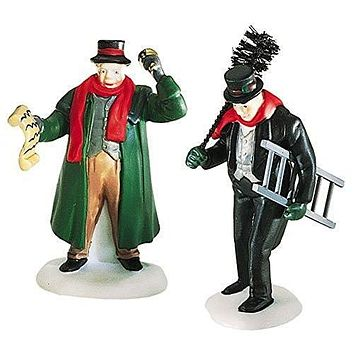 Dept. 56 Dickens Village Town Crier & Chimney Sweep