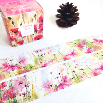 Summer Flowers washi masking tape
