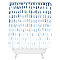 "Proof of Life Shower Curtain - Blue (71"" x 74"") - Deny Designs®"