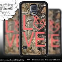 Buck Doe Love Heart Galaxy S4 case S5 Camo Coral Browning RealTree Tree Deer Camo Samsung Galaxy S3 Case Note 2 3 4 Cover Country Girl