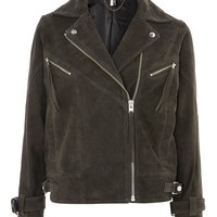 Suede Biker Jacket - Jackets & Coats - Clothing