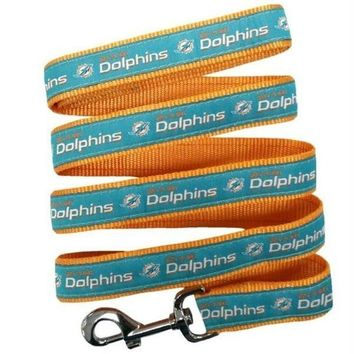 DCCKT9W Miami Dolphins Pet Leash