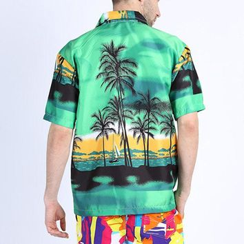 Coconut Tree Printing Shirts