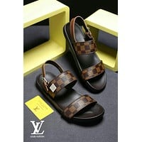 Louis Vuitton LV men Fashion Flats Slipper Sandals Shoes