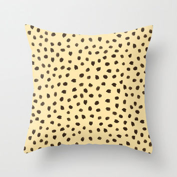 Cheetah Print Pillow - Decorative Pillows - Velveteen Pillow Cover - Animal Print Pillow - Gift for Her - Gift Ideas for Women - Gift Ideas
