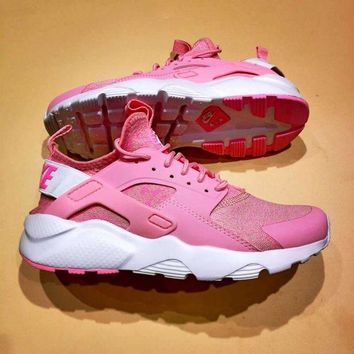 DCCKIG3 Nike Air Huarache 4 V Sneaker Ultra Flyknit ID Women Running Shoes Pink&White 753889-99620