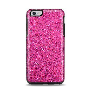 The Pink Sparkly Glitter Ultra Metallic Apple iPhone 6 Plus Otterbox Symmetry Case Skin Set