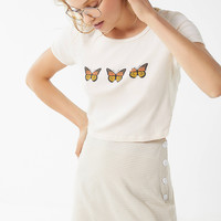 Truly Madly Deeply Butterfly Cropped Tee | Urban Outfitters