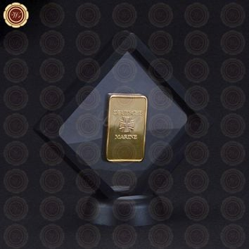 1939 Year 1oz Gold Bar Deutsche Marine Souvenir Coin with Display Frame for Home Collection