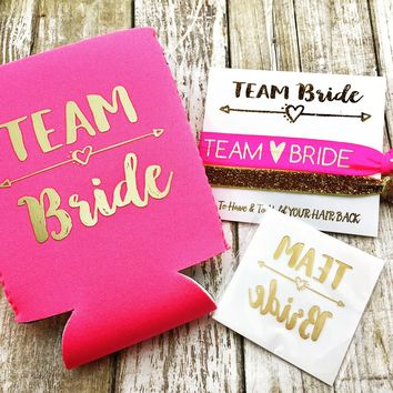 Bachelorette Party Favors | Bachelorette Can Coolers, Hair Ties, Tattoos