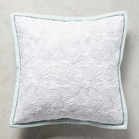 Pilar Palm Euro Sham in Mint Green Euro Sham Size Bedding by Anthropologie