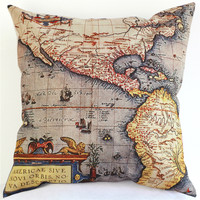 Map of the World Pillows Cushion