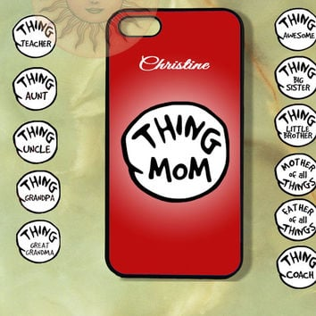 Customized Thing 1 and 2 Case-iPhone 5, iphone 4s, iphone 4 case, Samsung GS3-Silicone Rubber or Hard Plastic Case, Phone cover
