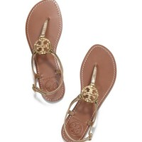 Tory Burch Violet Metallic Thong Sandal