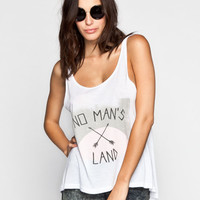 Thieving Hearts No Mans Land Womens Tank White  In Sizes