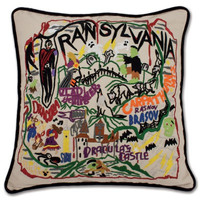 Transylvania Hand Embroidered Pillow