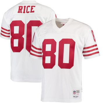Mens San Francisco 49ers Jerry Rice Mitchell & Ness Scarlet Retired Player Vintage Replica Jersey