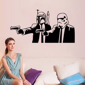 Stylish Star Wars Wall Sticker (57*37cm)