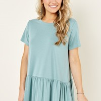 Walk In The Park Dusty Aqua Top