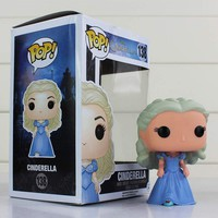 FUNKO POP Princess Snow White Cinderella Action Figure Toy Collection Model Dolls 9cm With Color Box