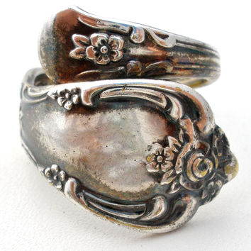 Vintage Silver Plated Spoon Ring Size 6