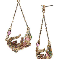 REPTILES ALLIGATOR DROP EARRINGS