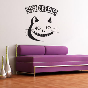 Vinyl Wall Decal Sticker Cheshire Cat #OS_DC613