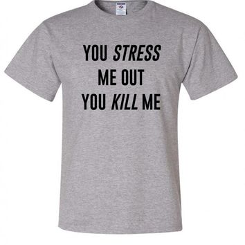 "Louis Tomlinson / Bebe Rexha ""Back to You - You Stress Me Out You Kill Me"" T-Shirt"