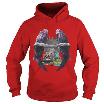 Supernatural Scooby Doo carry on my wayward son shirt Hoodie