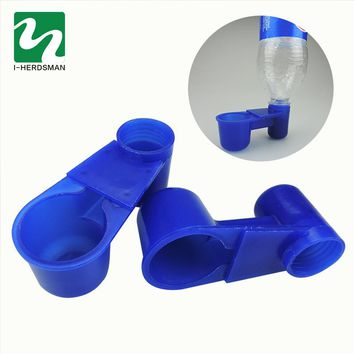 50 Set plastic Blue Drinking cup Bird feeding trough Water bowl Products Bird equipment Bird Cage Accessories