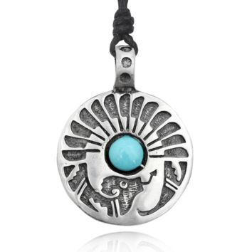 Native American Indian Symbol Silver Pewter Charm Necklace Pendant Jewelry