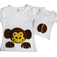 Monkey Shirt/Monkey Clothing/Cute Kids Clothes/Jungle Animal Shirt/Toddler Monkey Shirt/Monkey Baby/Kids Monkey Tshirt/Toddler Jungle Shirt